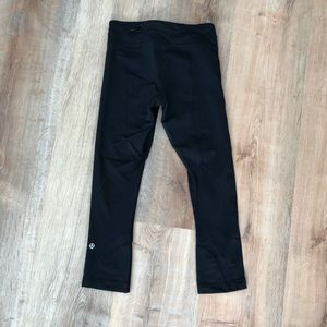 Lululemon Inspire Crop Black Size 4